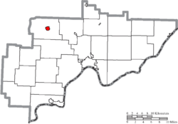 Location of Beverly in Washington County