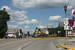 Entering downtown Minocqua