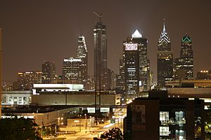Philadelphia Night Skyline