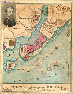 Union Attack on Fort Fisher North Carolina January 15 1865.jpg