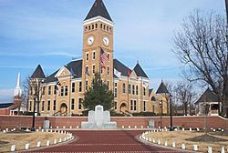 Saline County Courthouse, located in the heart of downtown Benton.