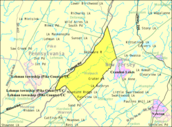 Census Bureau map of Walpack Township, New Jersey