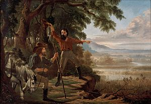 Edward Jukes Greig - Arrival of Burke & Wills at Flinders River, 1862