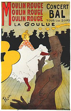 Lautrec moulin rouge, la goulue (poster) 1891