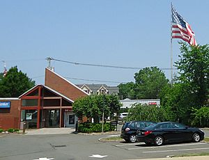 Berkeley Heights NJ giant flag near Plainfield & Springfield Avenues
