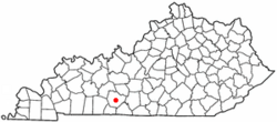 Location of Bowling Green within Warren County in Kentucky.