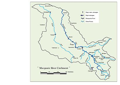 Macquarie River Catchment Map