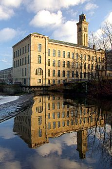 Saltaire New Mill Reflected