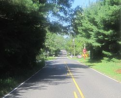 Looking west along New Freedom Road