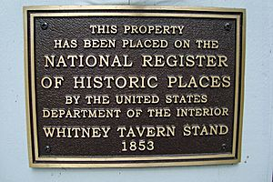 Whitney Tavern Stand - NRHP Sign