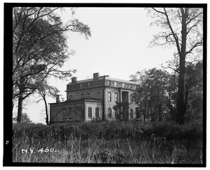 Historic American Buildings Survey, Arnold Moses, Photographer, October 12, 1936, EXTERIOR VIEW. - Hunter Island Mansion, Hunter Island, Bronx, Bronx County, NY HABS NY,3-BRONX,8-1