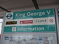 King George V stn signage