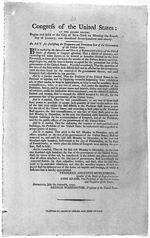 Residence Act of 1790