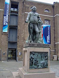 Standbeeld Robert Milligan Museum of London Docklands