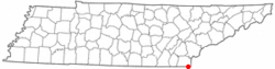 Location of Copperhill, Tennessee