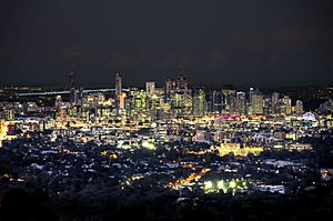 Brisbane CBD at Night