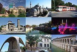 Right from the beginning: Mevlana Museum, Konya Selimiye Mosque, Alaaddin Hill, Ince Minaret Medrese, Meram Nature Park, Hacıveyiszade Mosque, Alaaddin Monument, Atatürk Museum and Taşköprü