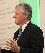 Peter Robinson at Titanic Belfast (Cropped)