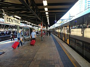 Platform 20 and 21 at Central Station in Sydney