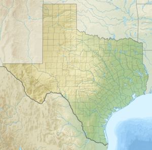 Relief map of Texas