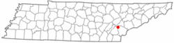 Location of Sweetwater, Tennessee