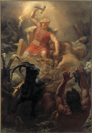 Tor's Fight with the Giants (Mårten Winge) - Nationalmuseum - 18253