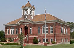 The Crowley County Heritage Center, formerly the Crowley School, is listed in the National Register of Historic Places.
