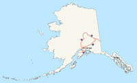 Interstate Alaska map