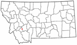 Location of Butte in Montana