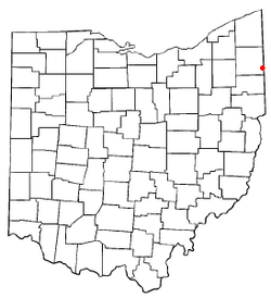 Location of Brookfield Center, Ohio