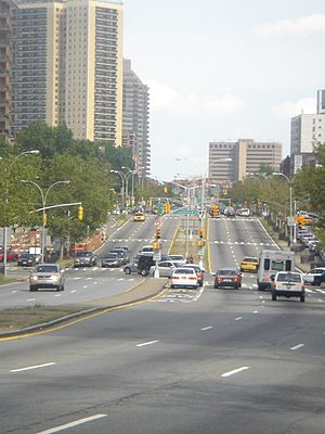 Queens Boulevard west of Yellowstone Boulevard