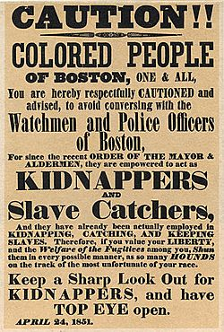 Slave kidnap post 1851 boston