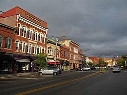 Water Street in downtown Exeter
