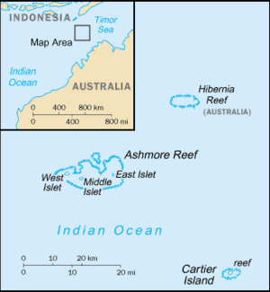 Ashmore and Cartier Islands-CIA WFB Map