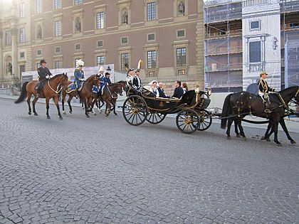 Carl XVI Gustaf of Sweden carriage group 2013 (2)