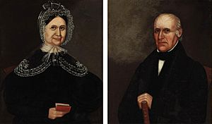 Deacon Elisha Holbrook and Sarah Thayer Holbrook, attributed to Ammi Phillips (1788-1865)