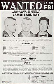 James Earl Ray-F.B.I. wanted poster-