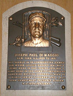 Joe DiMaggio Plaque
