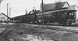 Mississippi Central Railroad Passenger Train, Sumrall, Mississippi (circa early 1900s)