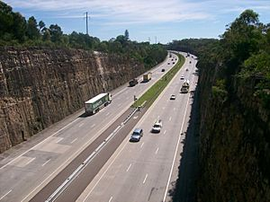 Sydney - Newcastle freeway north bound at Berowra