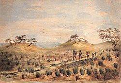 """Aboriginal Family Travelling"" by W.A. Cawthorne"