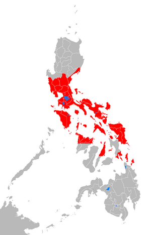 Affected Philippine provinces by typhoon Xangsane 2006