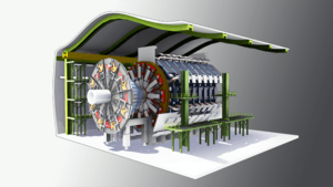Large hadron collider's atlas detector