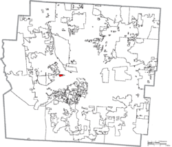 Location of Valleyview in Franklin County