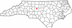 Location of Randleman, North Carolina