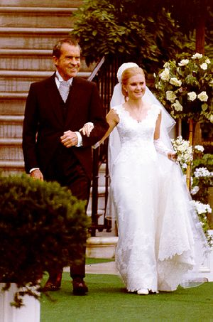 Nixon with daughter Tricia marriage 1971