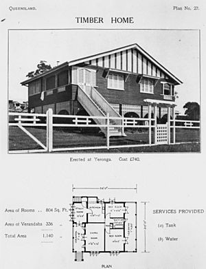 StateLibQld 1 112364 Timber home at Yeronga, Brisbane, 1920-1930