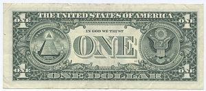United States one dollar bill, reverse