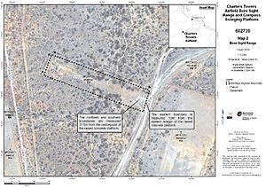 Boundary map 2 - Bore sight range (2010) aerial