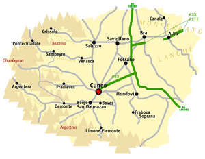 Cuneo map